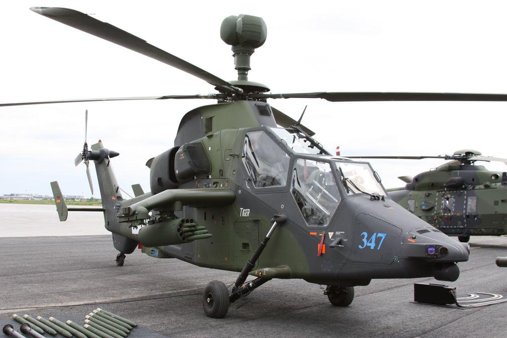 Kampfhubschrauber UH Tiger auf der ILA 2010