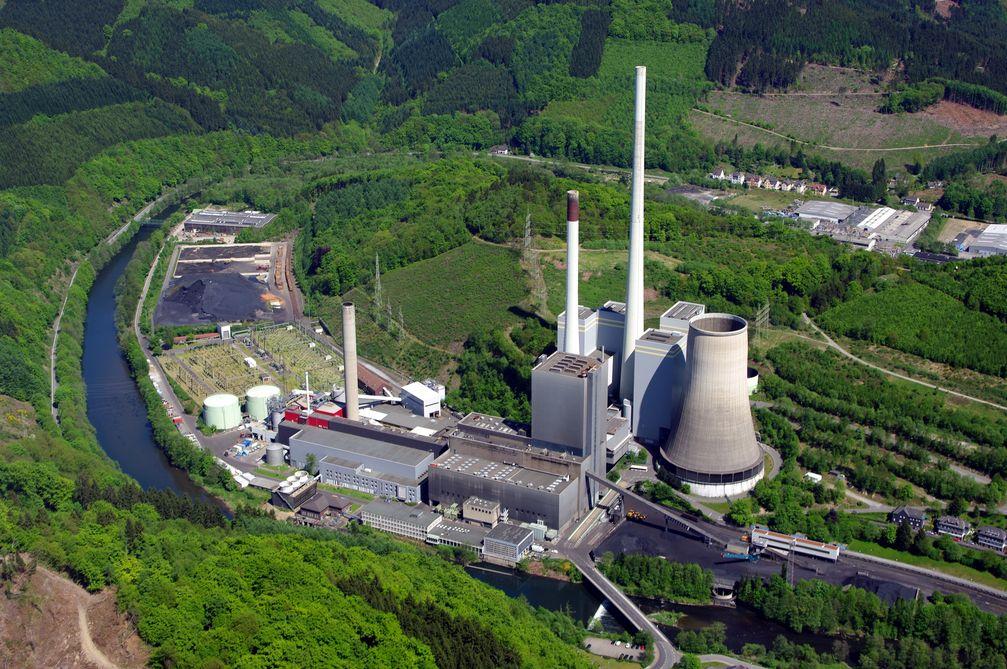 Ansicht eines Kohlekraftwerkes