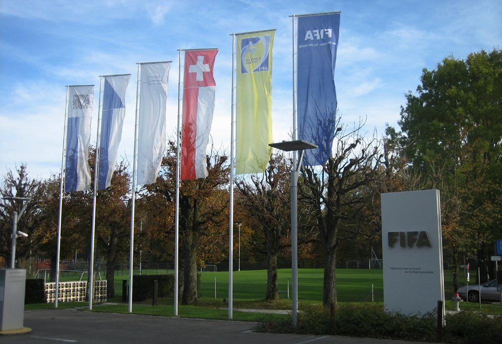 Einfahrt zum Gelände des FIFA-Hauptquartiers
