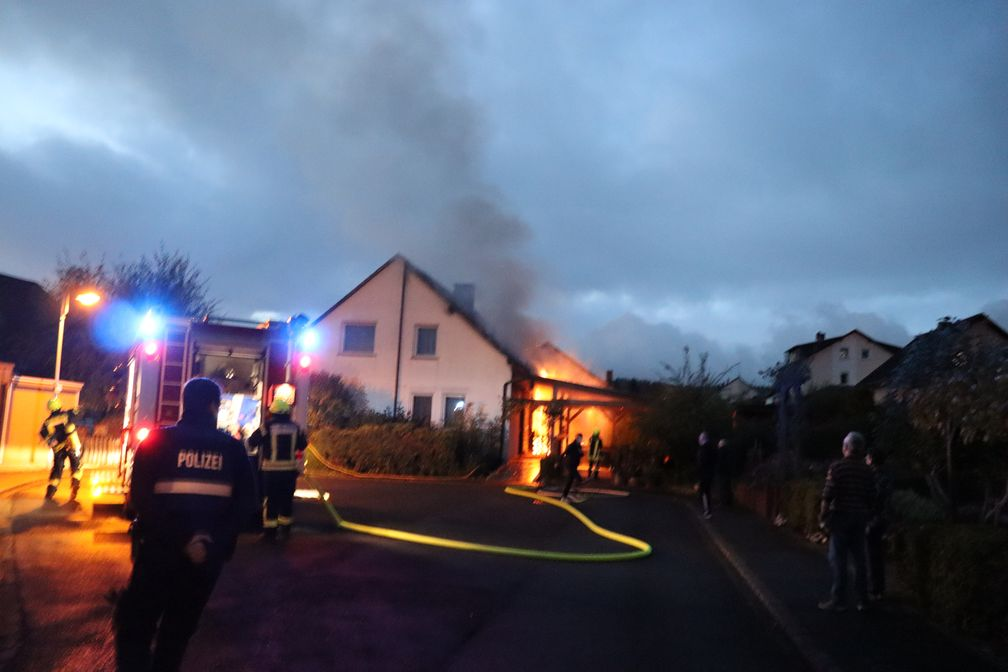 Brandort Zell-Barl Bild: Polizei