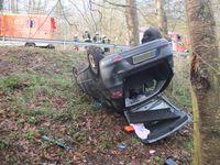 Bild von der Unfallstelle Bild: Polizei