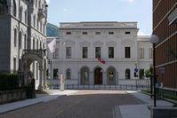 Das schweizer Bundesstrafgericht (die Ehemalige kantonale Handelsschule)