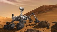 """Computergrafik von """"Curiosity"""" auf dem Mars. Bild: NASA"""
