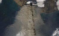 Satellitenaufnahme des isländischen Vulkans Eyjafjallajökull. Bild: NASA, dts Nachrichtenagentur