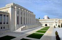 Aussenansicht des Palais des Nations in der Schweiz, Genf (Symbolbild)
