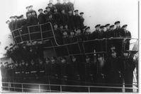 Die Besatzung von U-864, kurz vor ihrer ersten Unternehmung. Foto: ZDF und Wehrmachts Auskunftsstelle Berlin