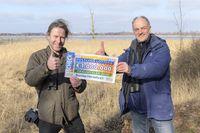 Glückliche Naturschützer: Stefan Schwill (links) und Ulrich Stöcker  Bild: Deutsche Postcode Lotterie Fotograf: Marco Urban