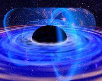 Künstlerische Darstellung eines Schwarzen Lochs. Quelle: Abbildung: NASA (idw)