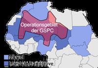 Operationsgebiet der früheren GSPC sowie Länder der Trans-Saharan Counterterrorism Initiative (TSCTI) und Pan-Sahel-Initiative