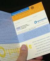Organspendeausweis: keine Freiwilligkeit in China. Bild: pixelio.de, G. Richter