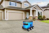 Postzustellung: Roboter auf der Suche nach der richtigen Haustür.