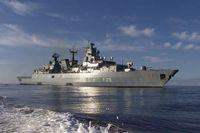 Die Fregatte Brandenburg in See. Bild: Deutsche Marine