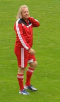 """Robert Geiss beim Benefiz-Fußball-Spiel unter dem Motto """"Kicken für den guten Zweck"""" (2013)"""