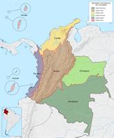Naturräumliche Gliederung Kolumbiens
