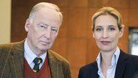 Alexander Gauland und Alice Weidel, Vorsitzende der AfD-Bundestagsfraktion (2018)