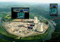 Abb. 1: Überblick über das Double-Chooz-Experiment mit den beiden Detektoren am Kernkraftwerk. Quelle: Grafik: Double-Chooz-Kollaboration (idw)