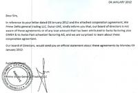 Auszug aus dem Fax der echten Prime Delta Bild: GoMoPa.net