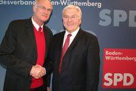 Lothar Binding (links) mit Frank-Walter Steinmeier, 2009