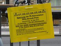 Hinweise der Verkehrsgesellschaft Frankfurt anlässlich Blockupy 2013