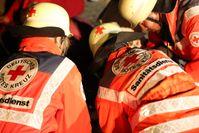 """Ehrenamtliche Einsatzkräfte üben den Ernstfall: Explosion mit mehreren Verletzten. Bild: """"obs/Bayerisches Rotes Kreuz, Landesgeschäftsstelle/Sohrab Taheri-Sohi"""""""