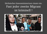 Sächsisches Innenministerium räumt ein: Fast jeder zweite Einwanderer ist Kriminell