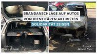 Vor Demonstration und Sommerfest in Halle: Brandanschläge auf Autos von identitären Aktivisten