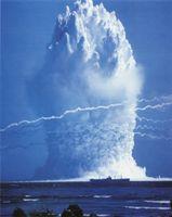 Unterwasserexplosion des Hardtack Umbrella Atombomben Tests 1958 (Symbolbild)