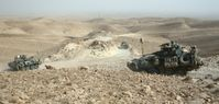 LAV-25-Radpanzer der US-Truppen im Dschabal Sindschar