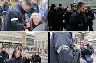 Unfassbar: DDR-Widerstandskämpferin Angelika Barbe wird abgeführt