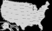 Karte der US-Bundesstaaten