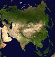 Satellitenbild Asiens