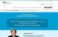 Webseite des Bürgerdialogs der Bundeskanzlerin