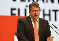 Sigmar Gabriel beim SPD-Bundesparteitag 2015