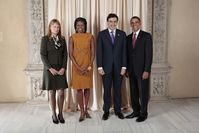 Sandra Roelofs, Michelle Obama, Mikheil Saakashvili and Barack Obama in 2009