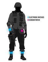 Soldat: Elektroden sammeln Daten in Echtzeit. Bild: buffalo.edu