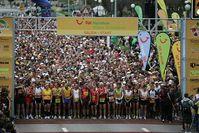 7.345 Läufer - 16 Prozent mehr als im Vorjahr - starteten beim diesjaehrigen TUI Marathon. Bild: Ralf Graner