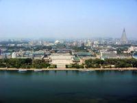 Panoramablick auf Pjöngjang in Nordkorea.