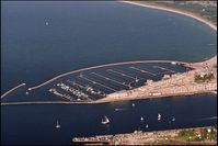 Yachthafen Hohe Düne, Luftbild