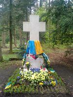 Grab auf dem Waldfriedhof in München im April 2014