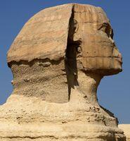 Sphinxkopf im Profil
