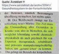 Eine Veröffentlichung im Ärzteblatt Ausgabe PP1 von Oktober 2002, Seite 449 offenbart eine hässliche Strategie gegen alle Bürger (Symbolbild)