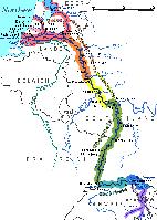 Abschnitte des Rheinlaufs