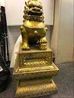 Wer vermisst diesen goldenen Löwen? Bild: Polizei