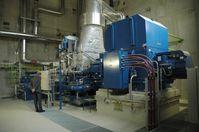 Dampfturbine des Biomasseheizkraftwerkes Mödling mit einer elektrischen Leistung von 5MW und einer thermischen Fernwärmeleistung von 20MW