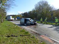 Übersicht der Unfallstelle, Blick in Fahrtrichtung Cuxhaven, auch Fahrtrichtung des Unfall-PKW,im Hintergrund der PP Bütteler Holz Bild: Polizei