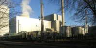 Kernkraftwerk Philippsburg: links KKP 1 mit Maschinenhaus, rechts KKP 2