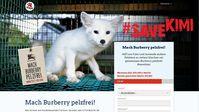 "Screenshot von der Webseite ""help.four-paws.org/de-AT/mach-burberry-pelzfrei"""