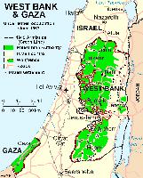 Westjordanland und Gazastreifen in Israel