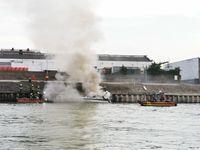 Brand Sportboot Andernach Bild: Polizei