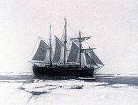 Amundsens Schiff Frahm im Drifteis 1903-1906 Bild: EIKE